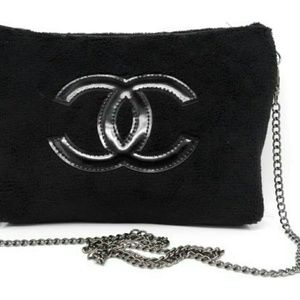 Authentic chanel vip crossbody clutch bag